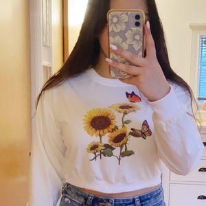 Sunflower Butterfly Sweatshirt